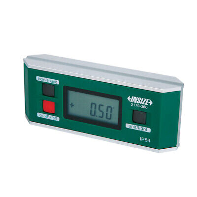 Insize Electronic Digital Level and Protractor, 0-360(90 4), IP54 (2179-360)