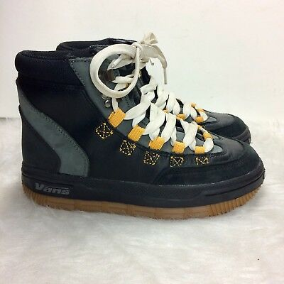 b63f912cd816 Vans Daniel Franck Snowboard Boots Men s Size 6 Black Gray With White Laces