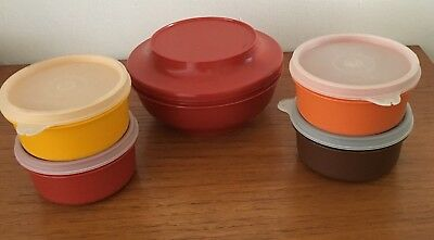Vintage 1970s assorted Tupperware containers