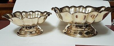 Two vintage  Very LARGE Sterling SILVER CANDY/SERVING BOWLS- 925 Silver