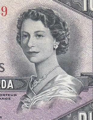 1954 BANK OF CANADA QEII $10 **DEVILS FACE** (( aUNC/UNC ))