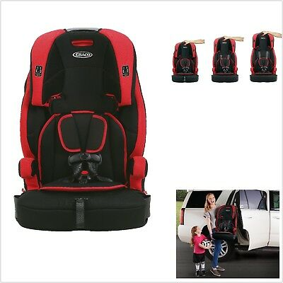 Graco Wayz Red and Black 3-in-1 Harness Booster Child Car Seat Gordon FREE SHIP!