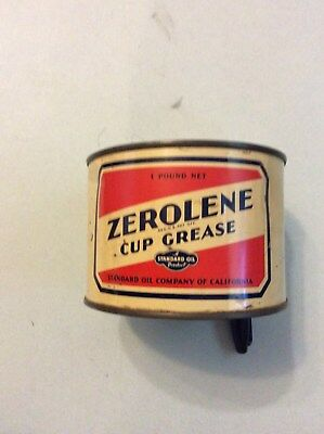 Zerolene Cup Grease Can. Standard Oil.