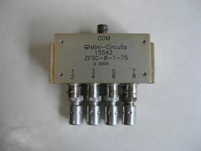 Mini Circuits 75 Ohm Power Splitter Combiner 15542 With 4 BNC Dummy Loads