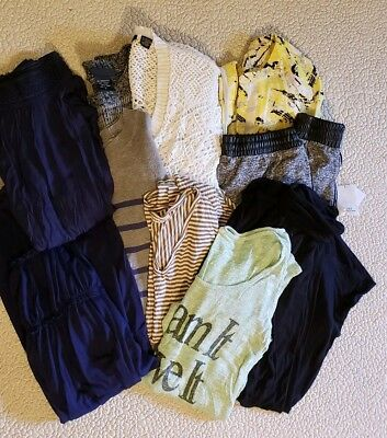 Lot of 9  Womens Juniors Size Small Tops, Blouse, Shirts, Sweaters, Skirt, Pants