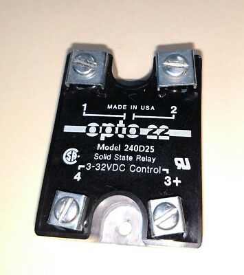OPTO 22 Solid State Relay Made in the USA 240D25 3-32VDC Control