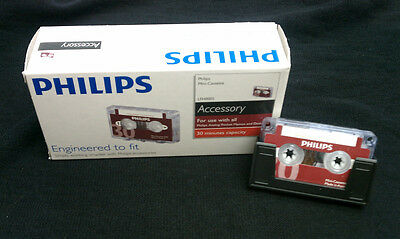 """Philips LFH/0005 MINI Cassette Tapes **New** """"Box of 10"""""""