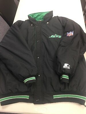 Vintage 90s New York Jets Starter Puffy Jacket No Tag Fits Like  2XL No Hood