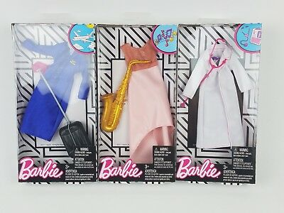 2018 Barbie Complete Fashion Career Looks clothing packs lot of 3