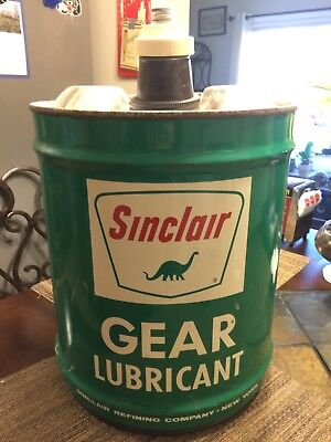vintage Sinclair 5 gallon gear oil lubricant can - excellent condition