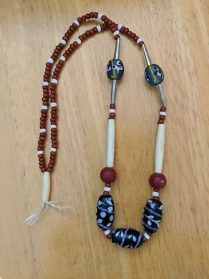 Fur Trade Native American Glass Trade Bead Necklace Reproduction Rendezvous