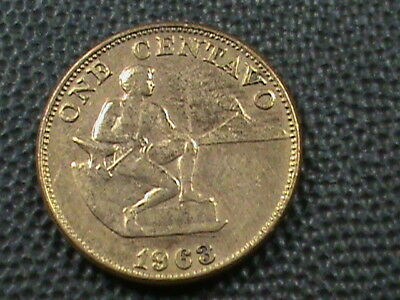 PHILIPPINES 1 Centavo 1963 ALMOST UNCIRCULATED  , $ 2.99 maximum shipping in USA