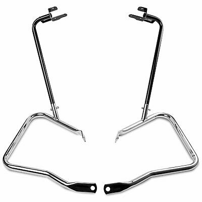 Saddlebag Bracket Guard Bars For Harley Touring Street Road Glide FLHX 2014-2019