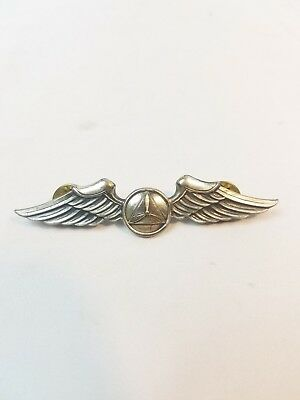"WW2 WWII US U.S. Pilot Wings,Gemsco NY,3"",Original,Sterling Silver,AAF,Corps,USA"