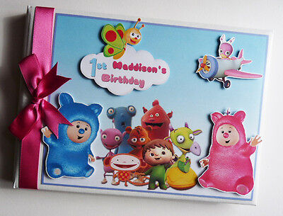 Personalised Baby Tv Boy/girl Birthday Guest Book / Album - Any Design