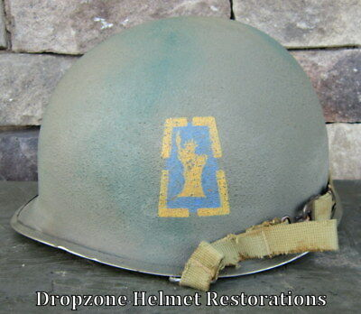 "WWII M-1 Helmet US Army 77th Infantry Division. ""Hacksaw Ridge""."