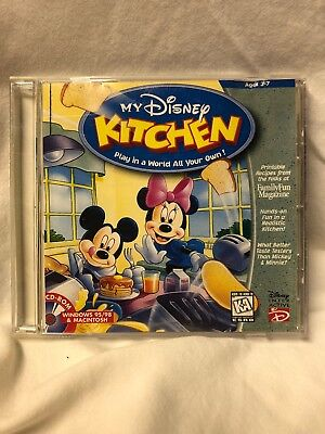 my disney kitchen pc cd rom mickey mouse kids cooking recipe computer game - My Disney Kitchen