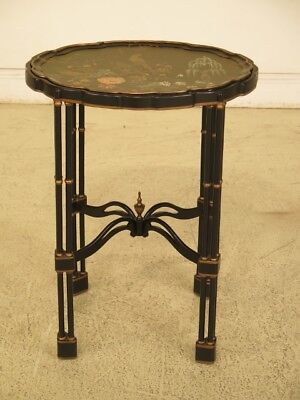 F44599EC: CHELSEA HOUSE Chinoiserie Decorated Tray Top Table