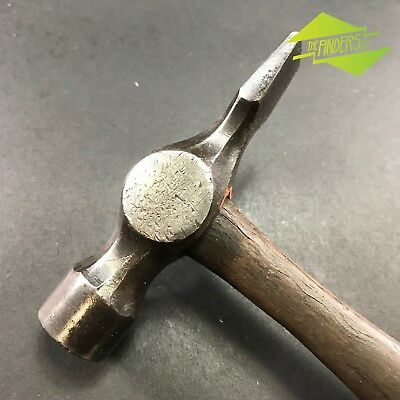 VINTAGE 300g CROSS-PEIN JOINER'S HAMMER OLD TOOLS WOODWORK CLAW BALL OLD TOOLS