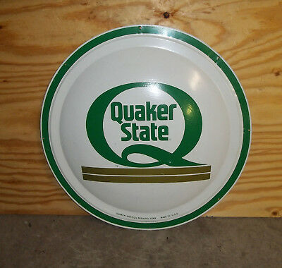 Vintage Quaker State 24'' Round Bubble Button Dome Sign