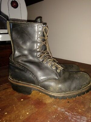 21fe922dc1d RED WING 2218 Men's Safety Steel Toe Logger Lineman Boots Size 13