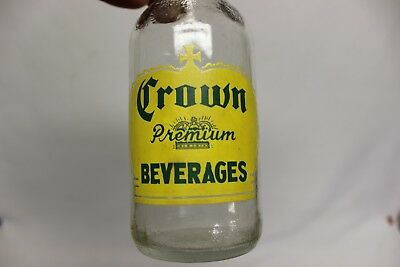 Crown Premium Beverages Soda Bottle, Kittanning, Pennsylvania 1955