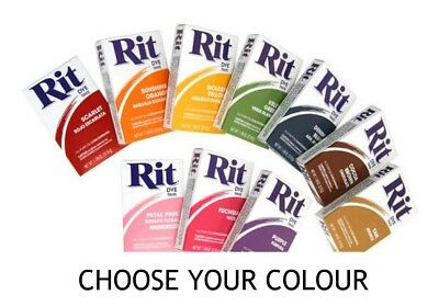 RIT ALL PURPOSE Fabric Dye Powder 31.9grams Choose Your Colour