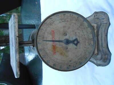 vintage very rare WINCHESTER REPEATING ARMS CO  family scale 24 LBS COLLECTIBLE