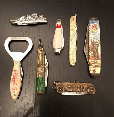 Lot Of Seven Vintage Pocket Knives