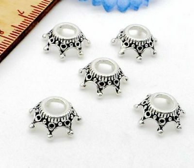 Free Ship 50Pcs Tibetan Silver Crown Spacer Beads For Jewelry Making 13x5mm