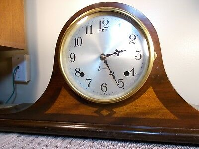 """1920's SESSIONS """"BERKELEY"""" 8 DAY TIME + STRIKE ART DECO TAMBOUR CLOCK, EXCELLENT"""