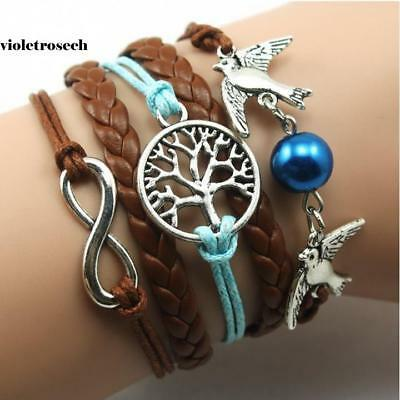 5 Colors Bangle Bracelet Tree of life Bracelet copper Bracelet Lover VILR 06