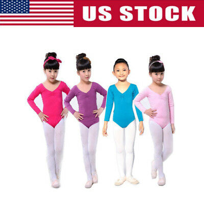 Kids Girls Gymnastics Ballet Child Toddler Leotard Tutu Skirt Dance Wear Costume