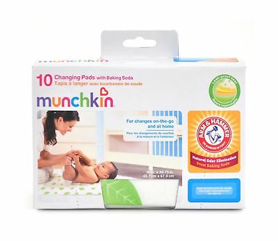 Munchkin Arm and Hammer Disposable Changing Pad, 10 Count 10-Pack