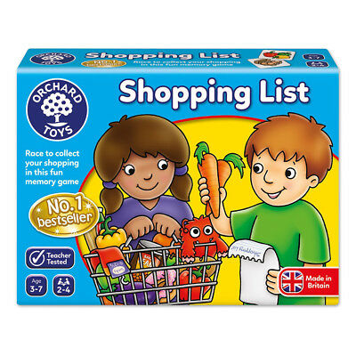 Orchard Toys Shopping List Educational Kids Card Game NEW