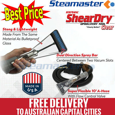 4 Jet Carpet Wand Rotovac Sheardry Clear Upholstery Hand Cleaning Tool FREE SHIP