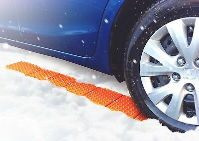 REUSABLE REVOLUTION Traction Mats w/ Wheel Chock - Emergency Tire Traction Pads