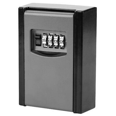 4 Digit Outdoor High-Security Wall Mounted Key Safe Box Code Secure Lock Storage