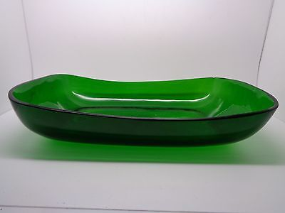 ANTIQUE GREEN GLASS LINNER WITH GROUND BASE REPLACMENT (ref71)