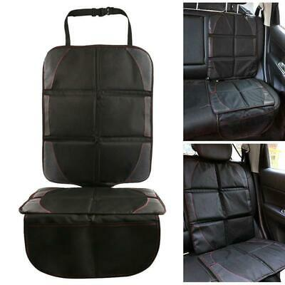 Black Safety Mat Cushion Cover Waterproof Car Seat Protector Non-Slip Child FI