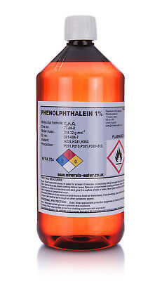 1L Phenolphthalein 1% solution Ph indicator-top quality!