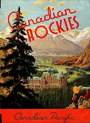 1937 Canadian Rockies Travel Brochure Guide Canadian Pacific Banff Lake Louise