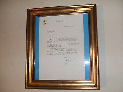 Letter Ron Hubbard Signed Founder Of Scientology