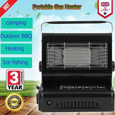 Portable Flueless Gas Heater Patio Outdoor Camping Fishing Cooker BBQ Grill R4R