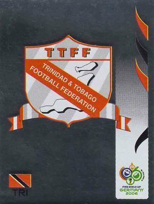 PANINI FIFA WORLD CUP-GERMANY 2006 #132-TRINIDAD /& TOBAGO TEAM BADGE-FOIL
