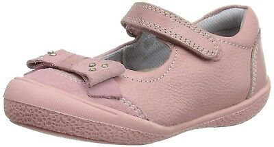 Hush Puppies Prom Infants UK 7.5 Wide Fit Pink Leather Mary Jane Shoes FREE POST
