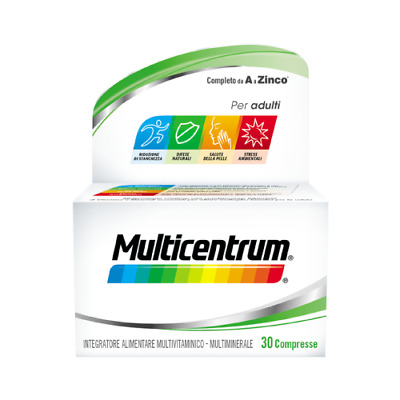Multicentrum Adulti 30 Compresse Integratore Alimentare Multivitaminico