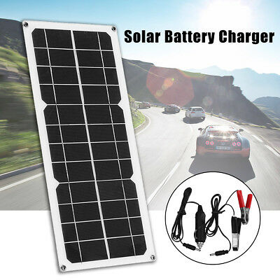 10W 12V Solar Panel Mono Module Boat Roof RV Car Battery Power Charger