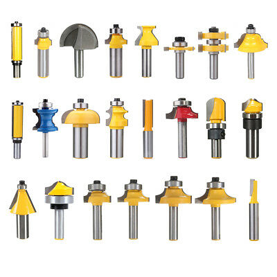 1/4'' 1/2'' 1/8'' Shank Burrs Milling Cutter Cutting Router Bit Woodworking Tool