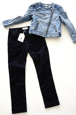 country road 'cord bow pant' and denim jacket…size girls 6, 5…vgc...